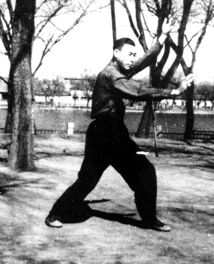A younger Wang Shi Tang Performing the Uplifting Palm