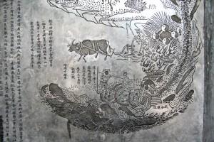Nei Jing Tu Stele - Detail