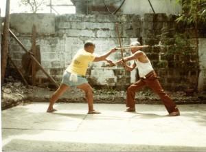 Block and Counter with Espada y Daga – Freddie Abella on the left.