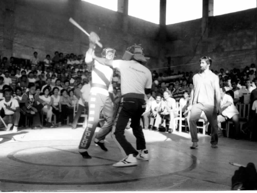 Tom Bisio Refereeing in Cebu City in 1984