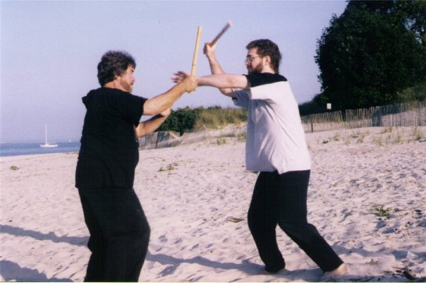 Practicing Eskrima with Bruce Juchnik