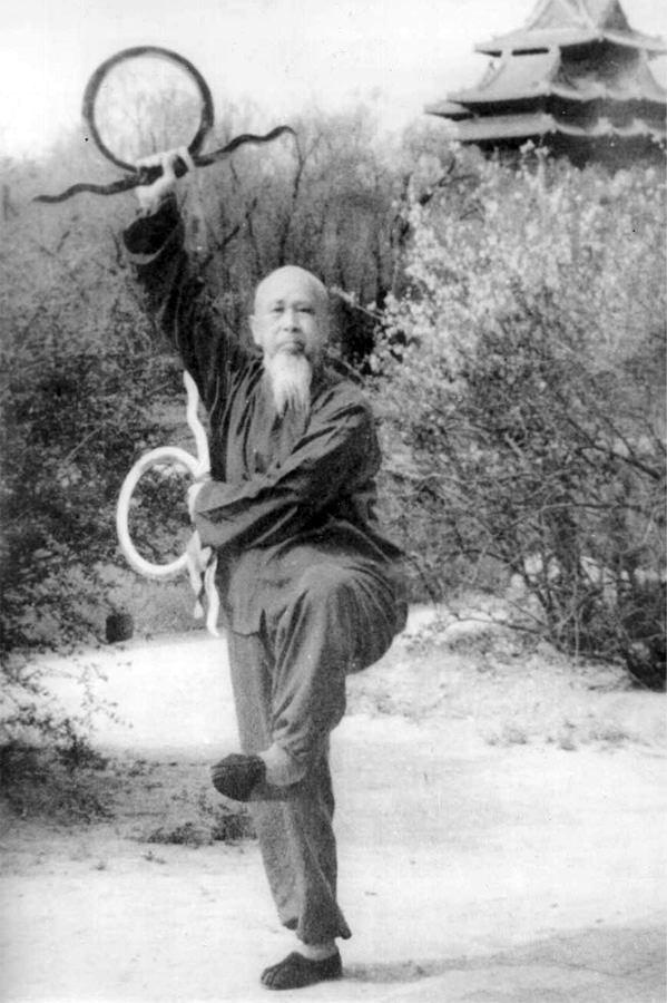 Master Li Zi Ming Wielding the Wind Wheel Swords